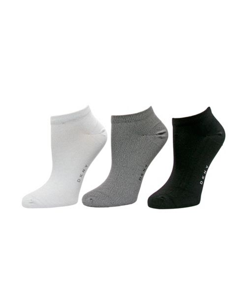 DKNY Microfiber No show Sock 3 pk