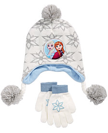Frozen Little & Big Girls 2-Pc. Hat & Gloves Set