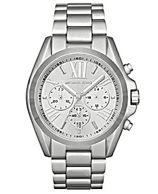 Michael Kors Women's Chronograph Bradshaw Stainless Steel Bracelet Watch 43mm MK5535