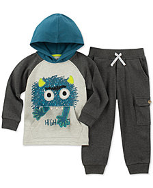 Kids Headquarters Little Boys 2-Pc Monster Hoodie & Jogger Pants Set