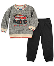 Kids Headquarters Little Boys Vroom Crew Sweatshirt & Joggers Set