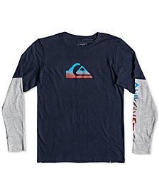 Quiksilver Big Boys Rough Script Tech Graphic Shirt