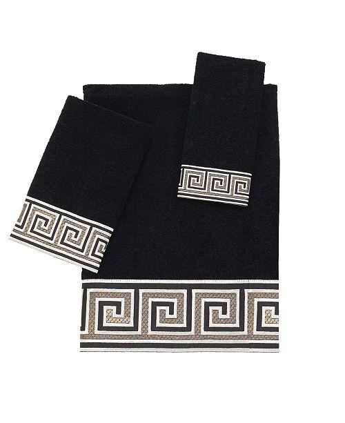 Greek Key Embroidered Fingertip Towel
