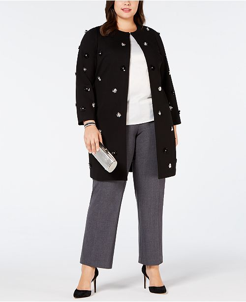 bffd47648c4603 ... Alfani Plus Size Embellished A-Line Jacket, Created for Macy's ...