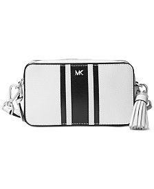MICHAEL Michael Kors Logo Pebble Leather Camera Bag