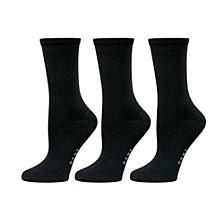 Microfiber Twist Crew Sock 3 pk