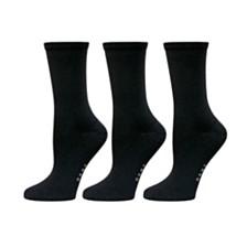 DKNY Microfiber Twist Crew Sock 3 pk