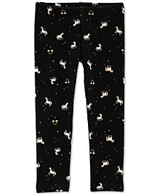 Carter's Toddler Girls Unicorn-Print Fleece Leggings