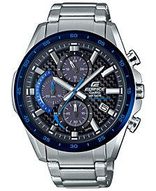 G-Shock Men's Solar Chronograph Edifice Stainless Steel Bracelet Watch 47.6mm