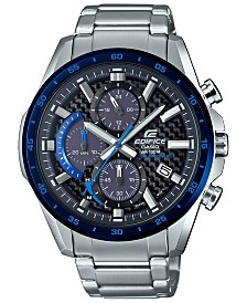G-Shock Men's Solar Chronograph Edifice Stainless Steel Bracelet Watch 47.6mm