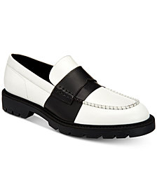 Calvin Klein Men's Florentino Box Leather Loafers