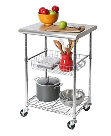 Seville Classics NSF Stainless Steel Kitchen Work Table Cart