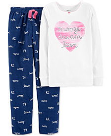 Carter's Little & Big Girls 2-Pc. Pajamas Set