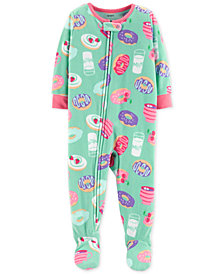 Carter's Toddler Girls Donut-Print Footed Pajamas