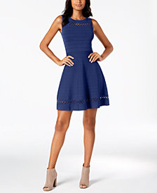 French Connection Cutout-Trim Dress