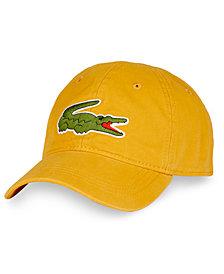 Lacoste Men's Large Croc Gabardine Cap