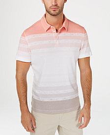Alfani Men's Regular-Fit Ombré Stripe Polo, Created for Macy's