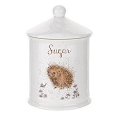 "Portmeirion  Wrendale Porcupine Sugar Canister ""A Prickly Encounter"""