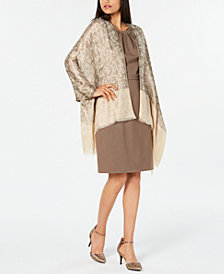 I.N.C. Metallic Leopard-Print Jacquard Wrap, Created for Macy's