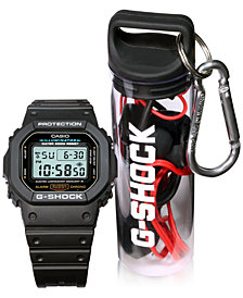 G-Shock Men's Digital Black Resin Watch 42.8 Gift Set, Created for Macy's