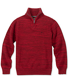 Calvin Klein Big Boys Marled Quarter-Zip Sweater