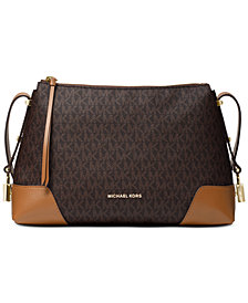 Michael Kors Crosby Signature Messenger Shoulder Bag