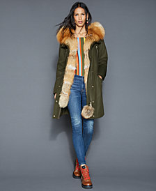 The Fur Vault Fox-Fur-Trim Rabbit-Lined Parka