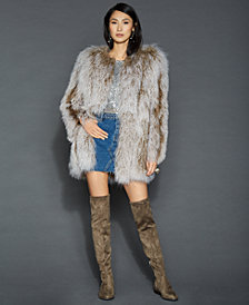 The Fur Vault Tibetan Lamb Fur Jacket