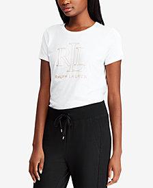 Lauren Ralph Lauren Foil Logo Graphic T-Shirt
