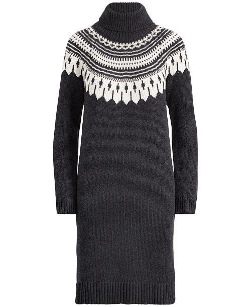 dfeb9d11f3f Lauren Ralph Lauren Fair Isle Turtleneck Dress   Reviews - Dresses ...