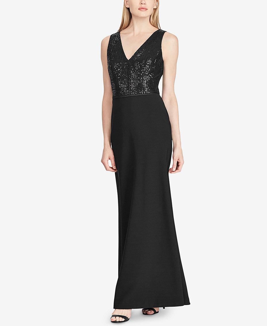 44c41d6e46a Lauren Ralph Lauren Sequin Jersey Gown   Reviews - Dresses ...
