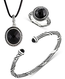 Onyx Jewelry Collection in Sterling Silver