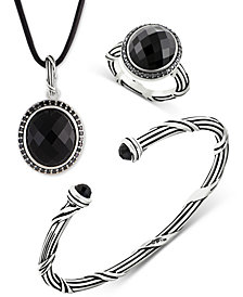 Peter Thomas Roth Onyx Jewelry Collection in Sterling Silver
