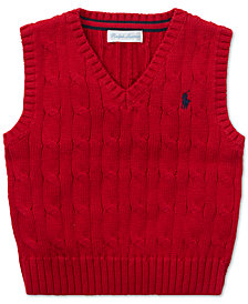 Polo Ralph Lauren Baby Boys Cable-Knit Cotton Sweater Vest