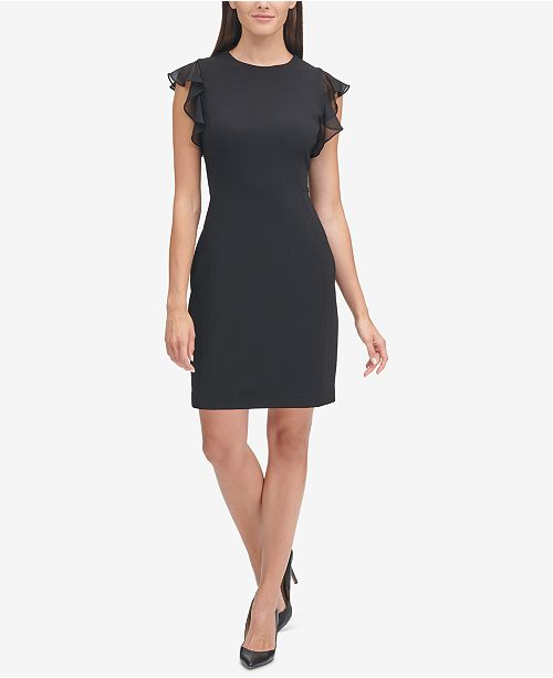 32164f14c0d Tommy Hilfiger Flutter-Sleeve Sheath Dress & Reviews - Dresses ...