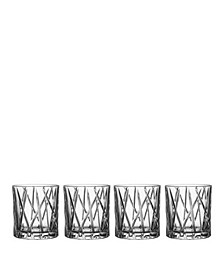 City Old Fashioned Glasses, Set of 4
