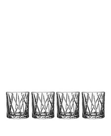 Orrefors City Old Fashioned Glasses, Set of 4