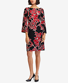 Lauren Ralph Lauren Floral-Print Shift Dress, Created for Macy's