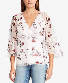 Lauren Ralph Lauren Floral-Print Wrap Top