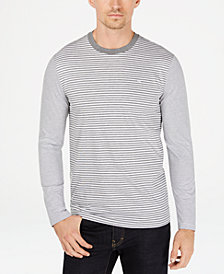 Calvin Klein Men's Jersey Feeder Striped Shirt