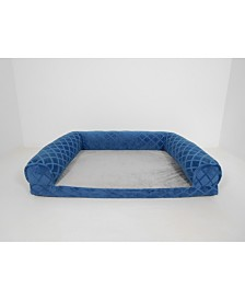 Arlee Orthopedic Rectangle Bolster Sofa and Couch Style Pet Bed, Small