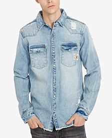 Buffalo David Bitton Men's Distressed Denim Shirt