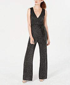 Crystal Doll Juniors' Glitter Jumpsuit