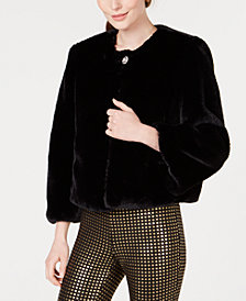 Maison Jules Faux-Fur Coat, Created for Macy's