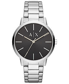 A|X Armani Exchange Men's Cayde Stainless Steel Bracelet Watch 42mm