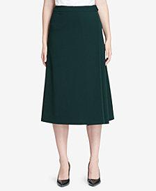 Calvin Klein Belted A-Line Skirt