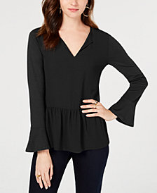 MICHAEL Michael Kors Ruffled Top, in Regular and Petite Sizes