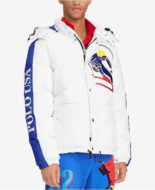 Ralph Men's Lauren Downhill Water Polo Jacket Skier Down Repellent OPnXwk80