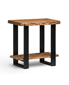 Alaterre Furniture Alpine Natural Live Edge Wood End Table