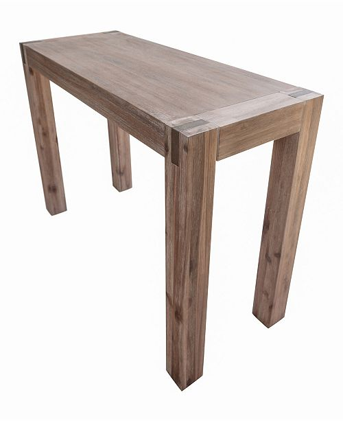 Alaterre Furniture Woodstock Acacia Wood With Metal Inset Media Console Table